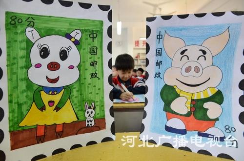 邯郸小学生邮政v邮政猪年巧手迎接邮票世界日龙江小学广州市图片