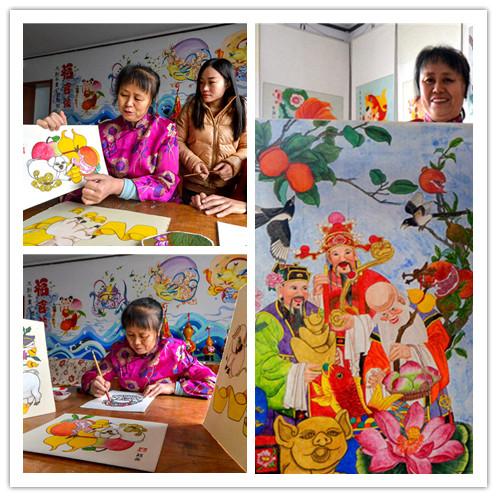 二年级春节年画手绘